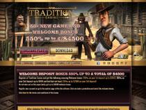 Screenshot Tradition Casino