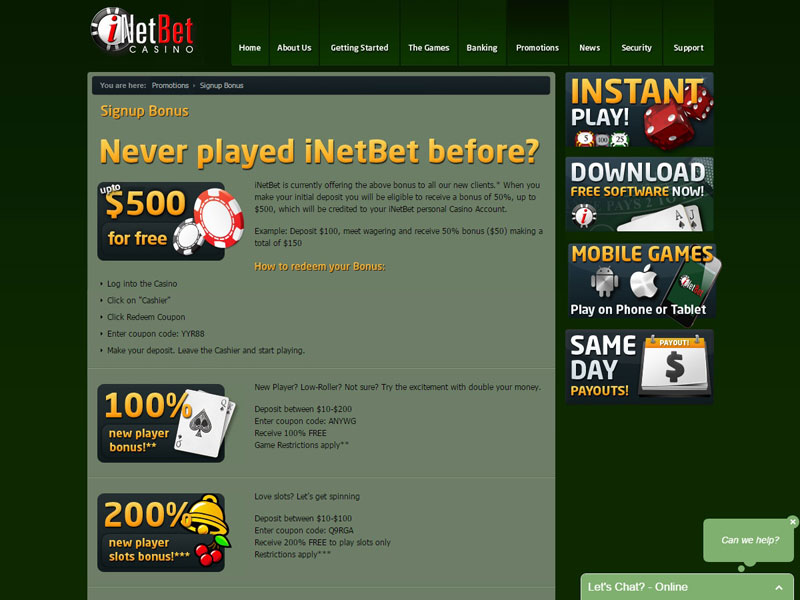 Inetbet Casino Login