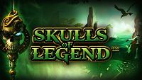 Win a share of £3,650 at NetBet casino playing the videoslot Skulls of Legend
