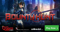 A new sci-fi online slot Bounty Hunt can be played at Red Queen Casino